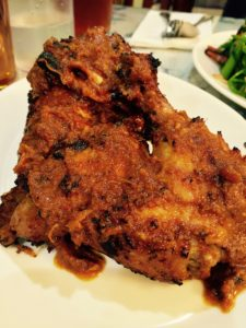 Grilled chicken with spices