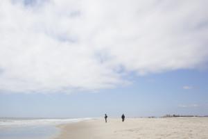 Two people on Jones beach