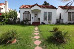 Small white Spanish cottage