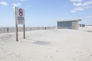 No swimming sign